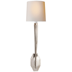 Ruhlmann Single Sconce in Polished Nickel with Natural Paper Shade
