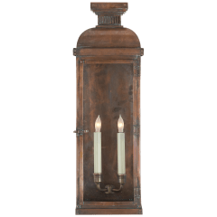 Suffork Tall 3/4 Lantern in Natural Copper