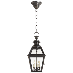 Chelsea Medium Hanging Lantern in Bronze