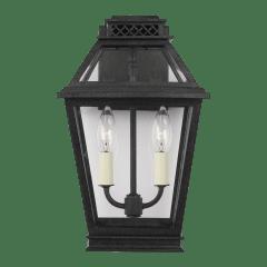 Falmouth Small Outdoor Wall Lantern Dark Weathered Zinc