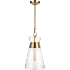 Atlantic Narrow Pendant Burnished Brass