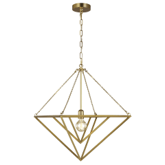 Carat Medium Pendant Burnished Brass