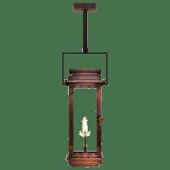 "Contempo 18"" Contemporary Yoke Ceiling Lantern in Antique Copper, Gas"