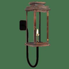 """Contempo 31"""" Gooseneck Wall Lantern in Antique Copper, Gas"""