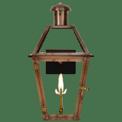 "Georgetown 20"" Wall Lantern in Antique Copper, Gas"