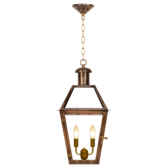 """Georgetown 22"""" Chain Mount Ceiling Lantern in Antique Copper, Electric"""