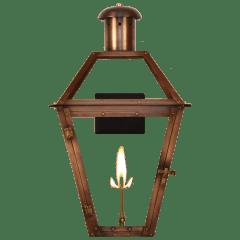 "Georgetown 36"" Wall Lantern in Antique Copper, Gas"