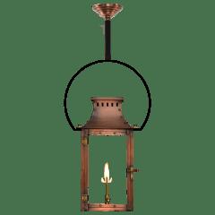 """Market Street 19"""" Yoke Ceiling Lantern in Antique Copper, Gas"""