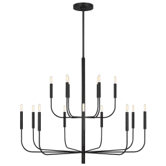 Brianna Large Two-Tier Chandelier Aged Iron