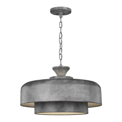 Haymarket Medium Pendant Weathered Galvanized