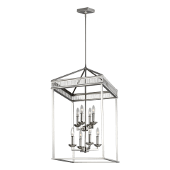 Woodruff Medium Lantern Polished Nickel