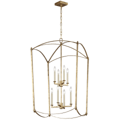Thayer Extra Large Lantern Antique Gild