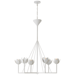 Alberto Large Single Tier Chandelier in Plaster White