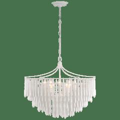 Vacarro Medium Chandelier in Plaster White
