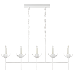 Illana Large Linear Chandelier in Plaster White