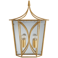 Cavanagh Medium Lantern Sconce in Gild