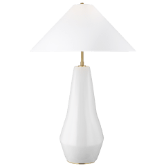 Contour Tall Table Lamp Arctic White Bulbs Inc