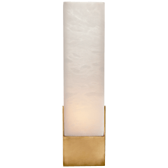 Covet Tall Box Bath Sconce in Antique-Burnished Brass