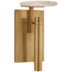 Melange Floating Disc Sconce in Antique-Burnished Brass with Alabaster