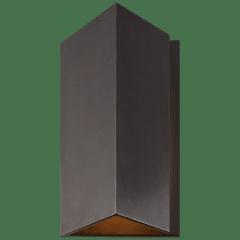 Esker Small Triangle Sconce in Bronze