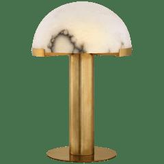 Melange Table Lamp in Antique-Burnished Brass with Alabaster
