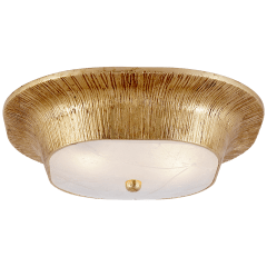 Utopia Round Sconce in Gild with Fractured Glass
