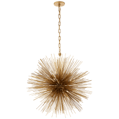 Strada Medium Round Chandelier in Gild