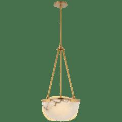 Melange Small Pendant in Antique-Burnished Brass with Alabaster