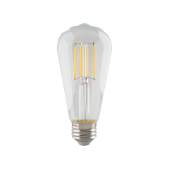 5.5W ST19 Clear LED Dimmable E26 2700K 500lm Medium Base T20