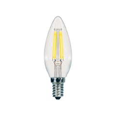 5.5W B10 LED Clear Dimmable Candelabra E12 500lm 2700k JA8