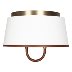 Katie Medium Flush Mount Time Worn Brass