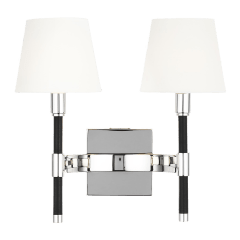 Katie Double Sconce Polished Nickel