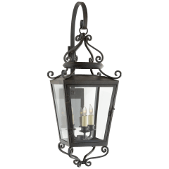 Lafayette Medium Bracketed Sconce in French Rust with Clear Glass