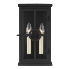 Belleville Small Lantern Textured Black