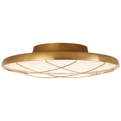 "Dot 13"" Caged Flush Mount in Natural Brass"