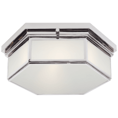 Berling Small Flush Mount in Polished Nickel with Frosted Glass