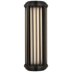 Perren Small Wall Sconce in Bronze and Glass Rods
