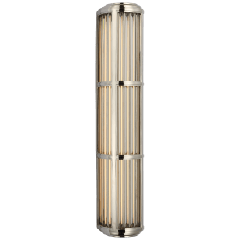 Perren Large Wall Sconce in Polished Nickel and Glass Rods
