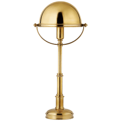 Carthage Mini Lamp in Natural Brass