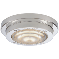 "Grant 6.25"" Solitaire Flush Mount in Polished Nickel"