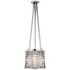 Chatham Small Lantern in Polished Nickel with Clear Glass