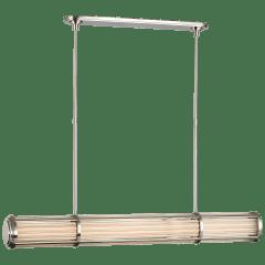 Perren Large Linear Chandelier in Polished Nickel
