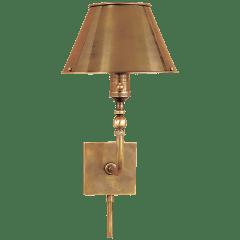 Swivel Head Wall Lamp in Hand-Rubbed Antique Brass