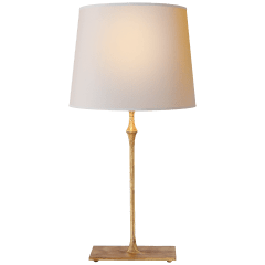 Dauphine Bedside Lamp in Gilded Iron with Natural Paper Shade