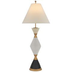 Yates Extra Large Table Lamp in Oatmeal with Linen Shade