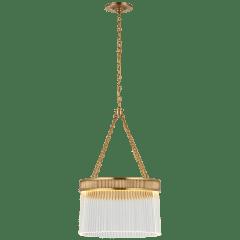 Menil Medium Chandelier in Soft Brass with Crystal Rods