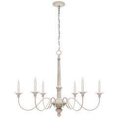 Country Small Chandelier in Belgian White