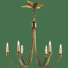 Venetian Medium Chandelier in Hand-Rubbed Antique Brass