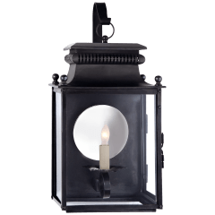 Honore Small Bracketed Wall Lantern in Blackened Copper