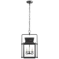 Honore Medium Square Frame Lantern in Blackened Copper